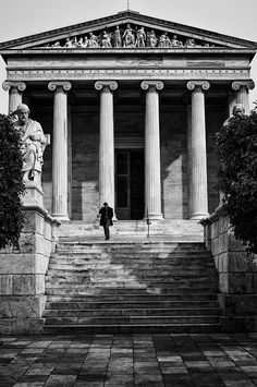 Academy of Athens by Spyros Papaspyropoulos Street Photographers, Athens, Gazebo, Greece, Outdoor Structures, Fine Art, Wall Art, Photography, Painting