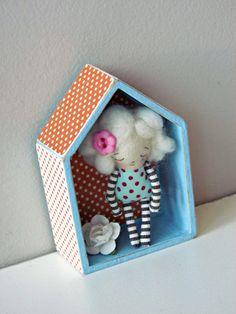 Mini-doll pendant-OOAK by Anacardia on Etsy