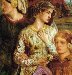 ROSSETTI, Dante Gabriel English Pre-Raphaelite of Beatrice 1859 detail [Jane Morris pre raphaelite Muse (and her daughters)] Medieval Art, Renaissance Art, Pre Raphaelite Paintings, Christina Rossetti, Pre Raphaelite Brotherhood, Dante Gabriel Rossetti, William Morris, Jenny Morris, Hyperrealism
