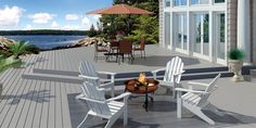 Latitudes Captiva Gray Composite Decking