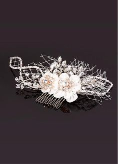 In Stock Elegant Glass Beads & Czech Diamonds & Mercurial Stone & High Imitation Artificial Pearls & Mesh & Fine Alloy Wedding Bridal Fascinator Bridal Fascinator, Wedding Fascinators, Bridal Hair, Occasion Hats, Veil, Glass Beads, Pearls, Elegant, Stone
