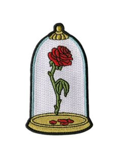 Disney Beauty And The Beast Enchanted Rose Patch