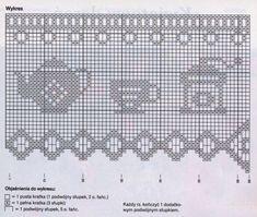 Risultati immagini per rideaux au crochet fait main Filet Crochet, Crochet Motifs, Crochet Diagram, Crochet Chart, Thread Crochet, Crochet Doilies, Crochet Patterns, Crochet Curtain Pattern, Crochet Curtains