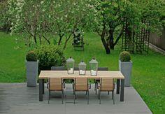 Stół Cortona Borek; fotele obiadowe Merano  Borek;