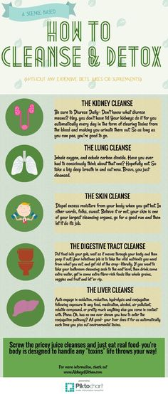 Check out my Science Based Body Cleanse and Detox Tips in my super fun #infographic