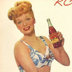 vintage lucille ball swimsuit 1946 advertisement by FrenchFrouFrou,