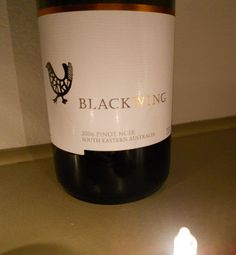 Blackwing - Pinot Noir from Australia. Interesting brown hue around the edges. A bit too sharp for me. Cost about $7.