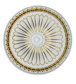 WishiHadThat Round Ceiling Medallion - Gold Trimmed