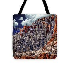 "Arizona Secret Mountain Wilderness in Winter Tote Bag 16"" x 16"" by  Dr Bob and Nadine Johnston"