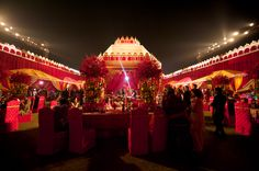 outdoor indian reception in dehli