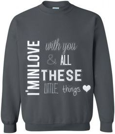 Little Things Sweatshirt one direction One Direction Merch, One Direction Outfits, Band Merch, Sweater Weather, Winter Sweaters, Little Things, Dress Me Up, Just In Case, Dress To Impress