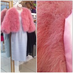 How absolutely amazing is this Louise Rawlins Ostrich Feather Jacket with Pure Silk Lining! (No ostriches harmed in the making! Ostriches, Ostrich Feathers, Pure Silk, Fur Coat, Pure Products, Couture, Amazing, Jackets, Instagram