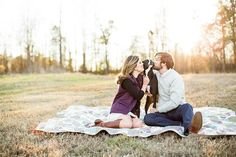sweet engagement session with a pup | Robyn Van Dyke