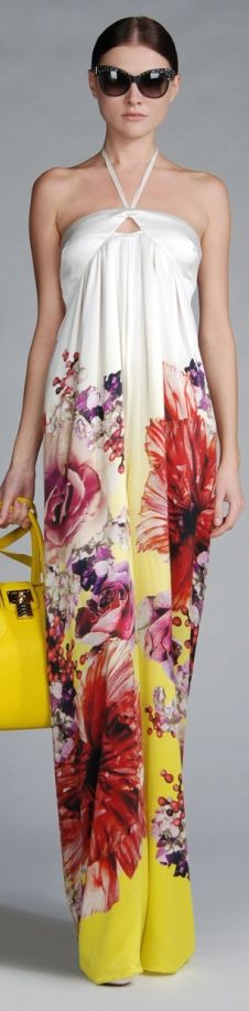 Roberto Cavalli Spring maxi dress for 2013 Floral Fashion, High Fashion, Womens Fashion, Fashion Design, Cheap Prom Dresses Uk, Summer Dresses, Maxi Dresses, Beautiful Gowns, Beautiful Outfits