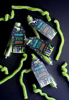 Fun favors at a science birthday party! See more party planning ideas at CatchMyParty.com!