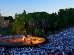 The easiest way to get to the Delacorte Theater in Central Park is to enter at 81st Street and Central Park West. Subway: B, C to 81st St–Museum of Natural History.