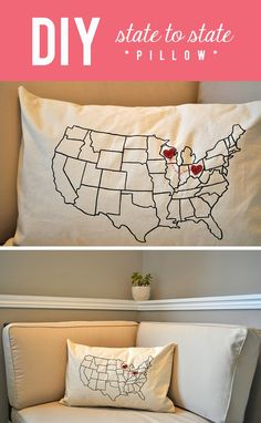 What's Up with The Buells: DIY: STATE TO STATE PILLOW