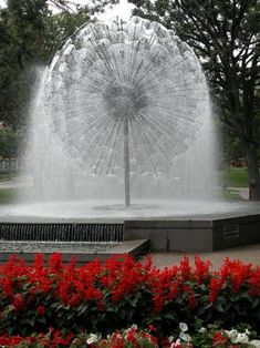 In Mpls, Loring Park, Dandelion Fountain, beautiful fountain! Love the noise it makes