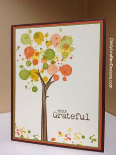 SU! Gorgeous Grunge Autumn Tree- one of my favorite new stamp sets from the big book this year!