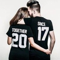 Wish | Fashion His and Hers Together and Since Couple T-shirts Couple Shirts For Lovers