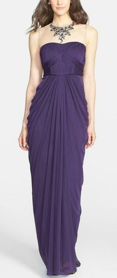 Gorgeous jeweled illusion neckline dress by Adrianna Papell need a reason so gorgeous