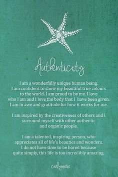 Affirmation - Authenticity by CarlyMarie