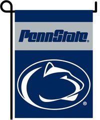 """13"""" x 18"""" Penn State Garden Banner Flag by NEOPlex. $9.95. Lined for clear visibility from both sides. Two-sided. High quality 150 denier polyester. Plastic pole included for window display. Garden display pole sold separately. """"Made from high quality 150 denier polyester. This premium two-sided garden banner flag is lined for clear visibility from both sides, even in bright sunshine. Included is a plastic pole with suction cups to display your flag in a window. The ..."""
