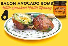 Bacon Avocado Bomb with Gran Luchito Smoked Chilli Honey