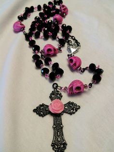 Day of the Dead Sugar Skull Rosary by SprinkleMeePretty on Etsy, $40.00 http://www.etsy.com/listing/126387215/day-of-the-dead-sugar-skull-rosary?ref=sr_gallery_7ga_search_query=sugar+skull+rosaryga_order=most_relevantga_view_type=galleryga_ship_to=USga_page=2ga_search_type=all