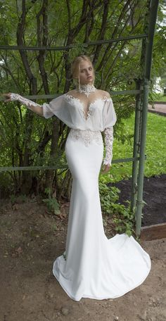 Nurit Hen 2017 Wedding Dress - Ivory & White Bridal Collection