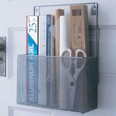 Mesh Wall Mount Pantry Caddy and Wrap Rack - Wayfair, Top 30 Organization Products via A Blissful Nest