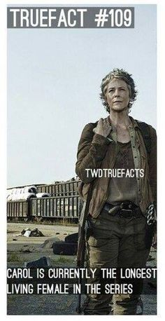 TWD Honestly, Carol is amazing. its weird because she is long dead in the comics.