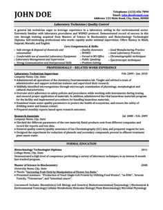 sample lab technician resume 11 best best research assistant resume templates samples images