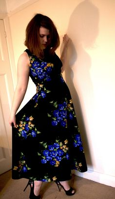 A vintage dress I refashioned! See more on the blog :) https://izywritesaboutthings.wordpress.com/
