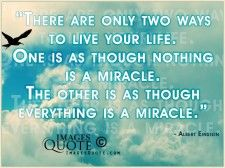There are only two ways to live your life - Life Quote