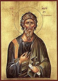 St Andrew the Apostle patron of miners, mariners, against fever, convulsions, neck and throat pain, single women, women who wish to become mothers, old maids, sailmakers, ropemakers, and more..