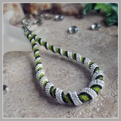 Spearmint Spiral Green Necklace Cellini Spiral by FrancescasFancy, $175.00