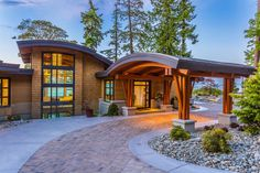 Entrance to a home on Vancouver Island