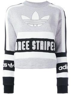 ADIDAS ORIGINALS Three Stripes Printed Sweatshirt. #adidasoriginals #cloth #sweatshirt