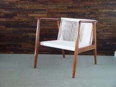 danish modern chair with rope