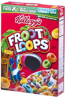 Kellogg's Froot Loops Cereal Total Ounce Two Bag Value Box: Kelloggs froot loops sweetened multigrain sereal 2 bags oz. Froot Loops, Fruit Loops Cereal, Cornflakes, American Breakfast, Good Source Of Fiber, Snack Recipes, Snacks, Fresh Market, Poutine