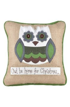 'Owl Be Home' Accent Pillow