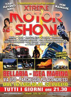 XTREME MOTORSHOW... WORK IN PROGRESS.... Spettacolo al Palacongressi Bellaria Igea Marina  dal 16 al 22 luglio 2014 dalle ore 21.30, 90 minuti di pura adrenalina... Non mancate!!