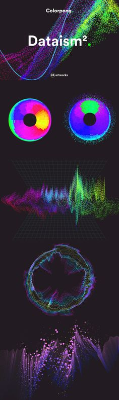 Dataism 2 - Dataism 2 is vector collection contains 24 experimental artworks featuring unusual data flow vi...