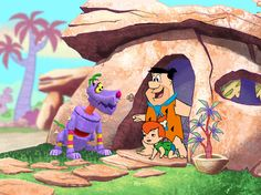 Flintstones Fruity Pebbles color key. Wildbrain animation, San Francisco, Ca, early 2000s.