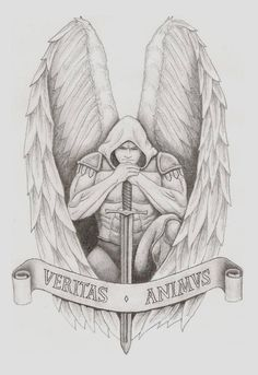 Archangel Tattoo by Guardian Angel Tattoo Angel Warrior Tattoo, Tatoo Angel, Guardian Angel Tattoo, Warrior Tattoos, Angel Tattoo Designs, Tattoo Designs For Girls, Tattoo Designs Men, Archangel Michael Tattoo, St Michael Tattoo