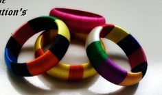 Thread wrapped  bangles