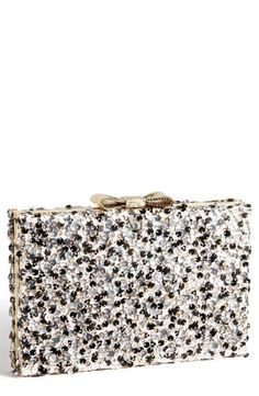 Fun and festive clutch in metallic sequins!