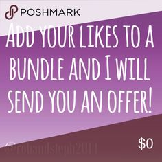 See something you like? Add to the bundle feature! My prices are negotiable, unless stated, so feel free to add one or more to a bundle and negotiate! Other