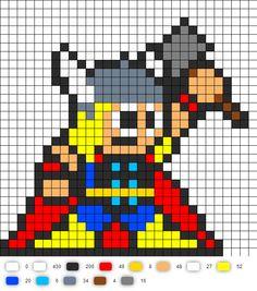 Avengers #1 Thor Perler Bead Pattern
